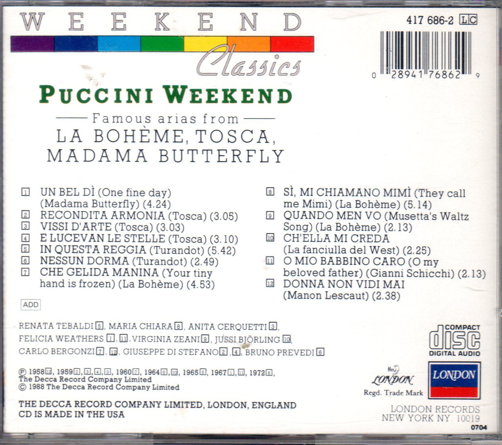 Puccini Weekend - Various opera singers and conductors