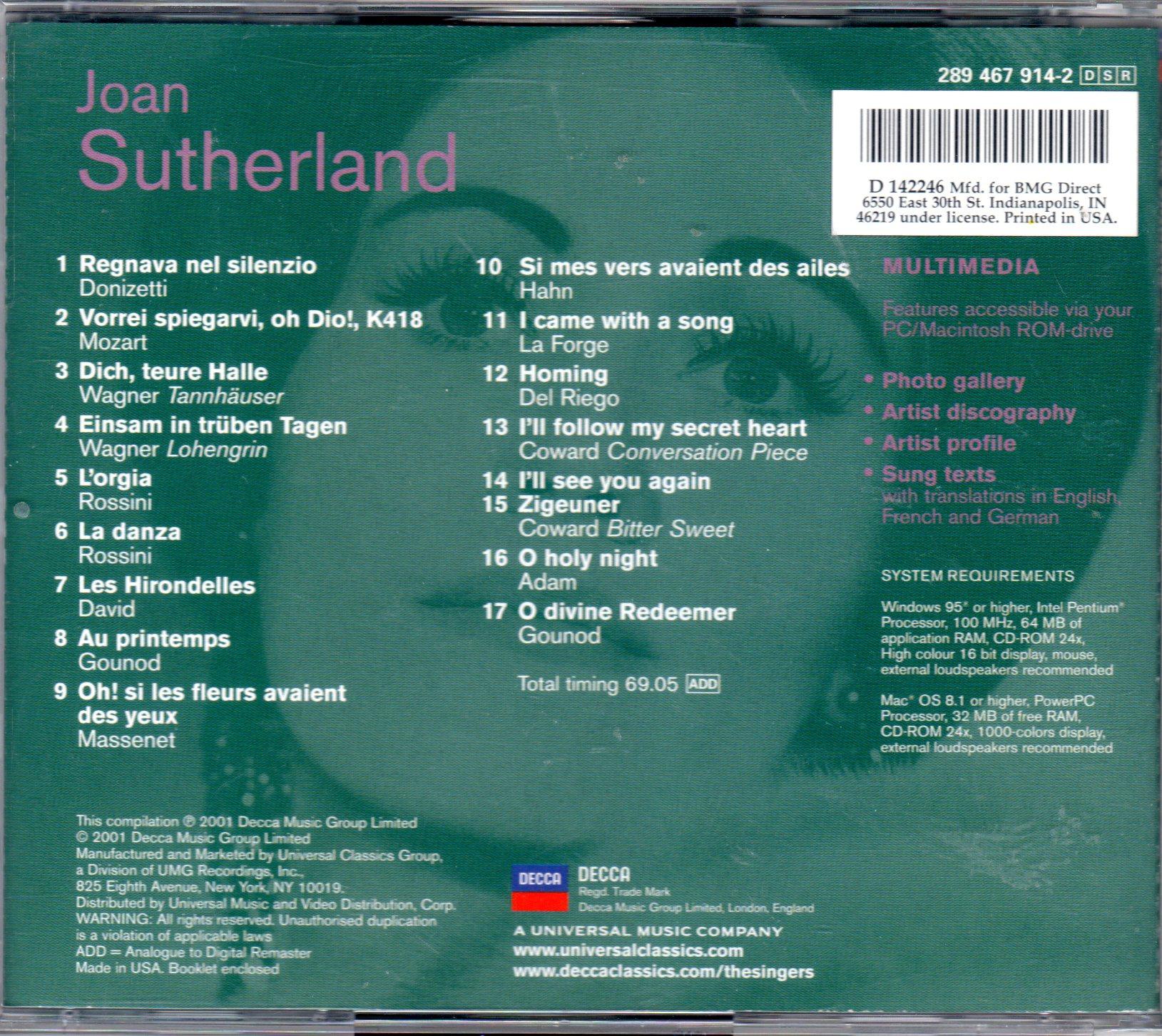 JOAN SUTHERLAND: The Singers series (DECCA)