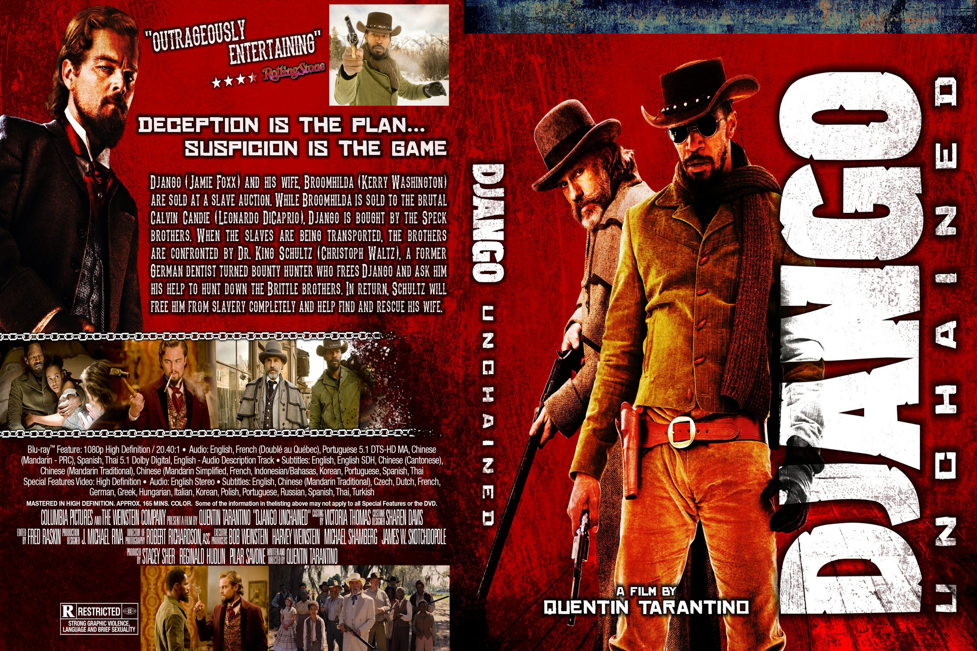 Django Unchained A Film By Quentin Tarantino With Jamie Foxx Christoph Waltz Leonardo Dicaprio Kerry Washington Samuel L Jackson Private Collection 2 Items Minimum For International Orders From Usa Only 4 00